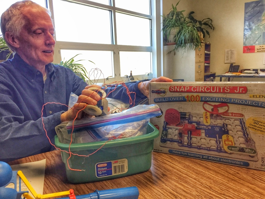 Allen Dolleris with a donated circuitry kit