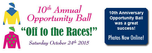 Reserve your seats now for the 10th Opportunity Ball - Off to the Races!